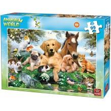 PUZZLE ANIMAUX chiens,chats,chevaux 99 Pièces
