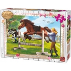 PUZZLE CHEVAL SAUT D'OBSTACLE