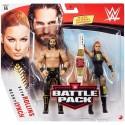 WWE Coffret 2 figurines articulées Becky Lynch & Seth Rollins en tenue de combat