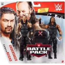 WWE Coffret 2 figurines articulées Roman Reigns & Undertaker en tenue de combat