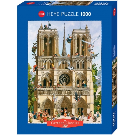 PUZZLE NOTRE DAME DE PARIS Cartoon