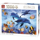 PUZZLE DAUPHINS SEA WORD 1000 Pièces