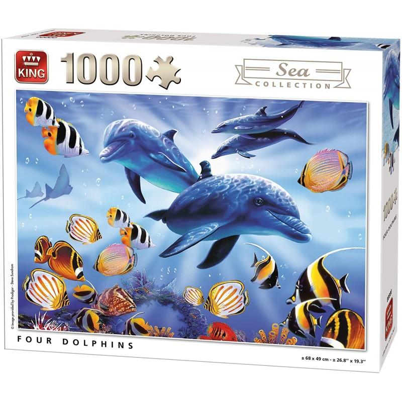 PUZZLE DAUPHINS SEA WORD 1000 Pièces