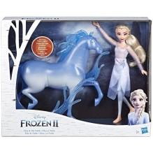 La Reine Des Neiges 2 - Coffret Poupee Princesse Disney Elsa 29 cm et Nokk 27 cm