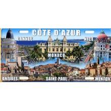 Plaque de rue cote d'azur Nice,Cannes,Antibes