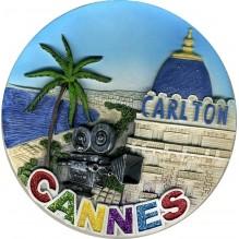 Assiette Décorative en résine Cannes le carlton 15 cm