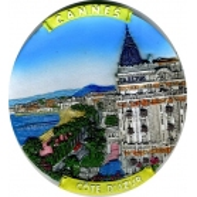 Assiette Décorative en résine Cannes Cote d'azur 10 cm
