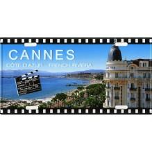 Plaque de rue Cannes et le carlton