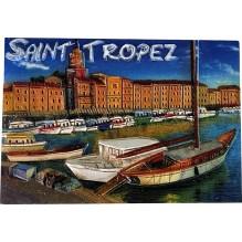 Magnet résine Saint-Tropez la villet et le port