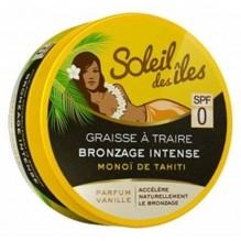 Soleil des iles Graisse à traire Bronzage intense - SPF 0 - Vanille - 150 ml