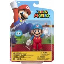 Nintendo - Jakks Super Mario - Figurine EIS-Mario avec Fleur de Glace - 10 cm