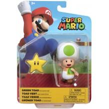 Nintendo - Jakks Super Mario – Toad Vert avec étoile – 10 cm