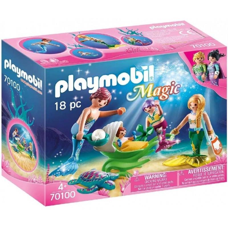 PLAYMOBIL famille des sirènes 70100