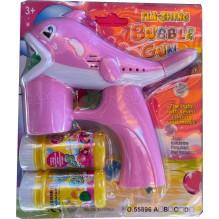 Pistolet à bulles en forme de dauphin rose
