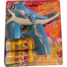 Pistolet à bulles en forme de Dauphin Bleu