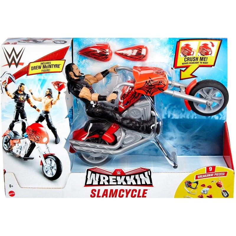 WWE Wreeking Véhicule Slam Cycle, moto avec action roue arrière