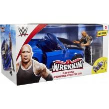 WWE Wreeking Véhicule Slam Mobile et figurine articulée de catch The Rock