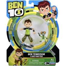 Ben 10 - Figurine articulée - 13 cm - Ben Tennyson & Grey Matter