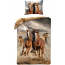 Housse de couette chevaux avec sac de transport