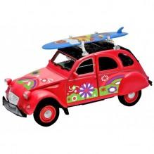 Voiture 2CV Citroën Rouge