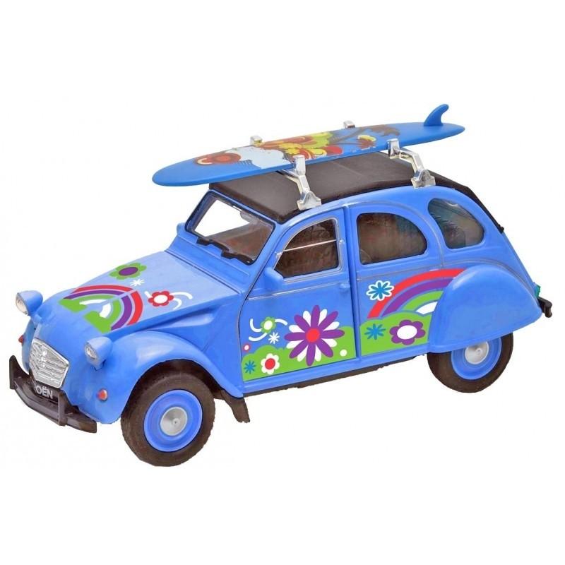 Voiture 2CV Citroën Bleu