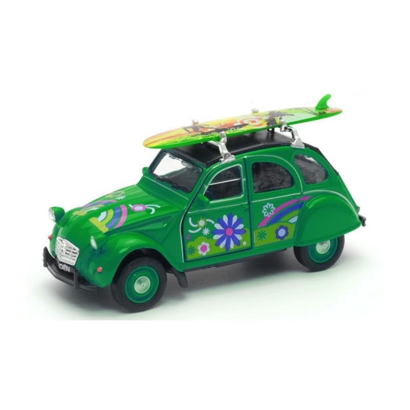 Voiture 2CV Citroën Verte