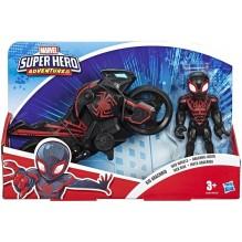 Spiderman Moto de l'araignée Kid Arachnid et figurine 12,5 cm