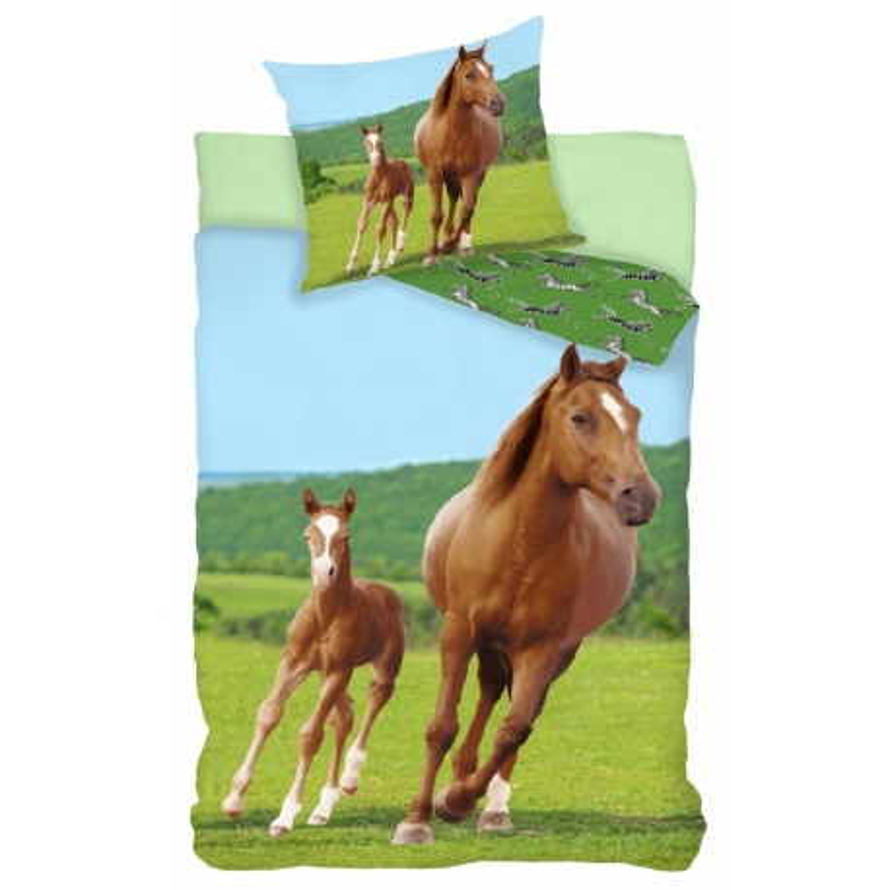 Housse de couette cheval et poulain