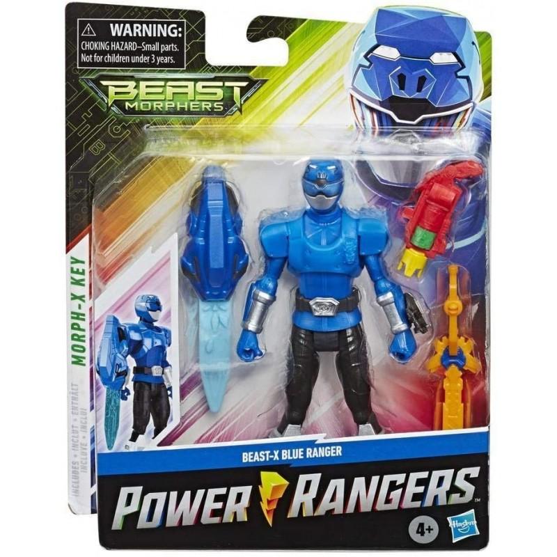 Power Rangers Beast Morphers - Figurine Ranger Bleu Beast-X - 15 cm
