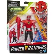 Power Rangers Beast Morphers - Figurine Ranger Rouge Beast-X - 15 cm