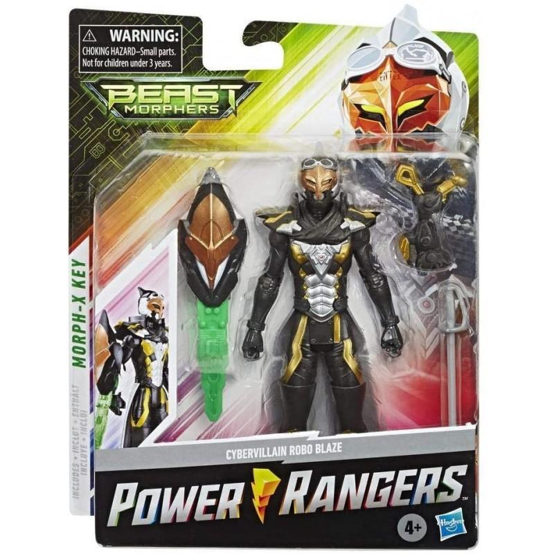 Power Rangers Beast Morphers – Figurine Cybervillain Robo Blaze - 15 cm