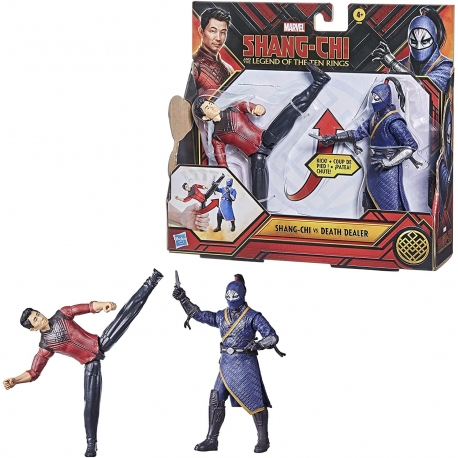 Shang-Chi And The Legend Of The Ten Rings, pack de 2 figurines Shang-Chi vs. Death Dealer