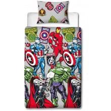 Housse de Couette Avengers Captain America, Thor, Hulk et Iron Man