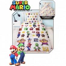 Housse de couette Super Mario Réversible