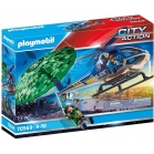 PLAYMOBIL Hélicoptère police parachutiste 70569