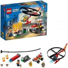 Lego city intervention hélicoptère et quad 60248