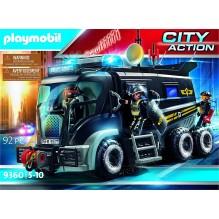 Playmobil camion policiers d élite sirène et gyrophare 9360