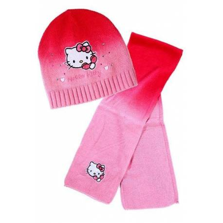 BONNET ET ECHARPE HELLO KITTY T52