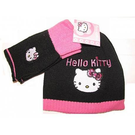 BONNET ET MITAINE HELLO KITTY T52