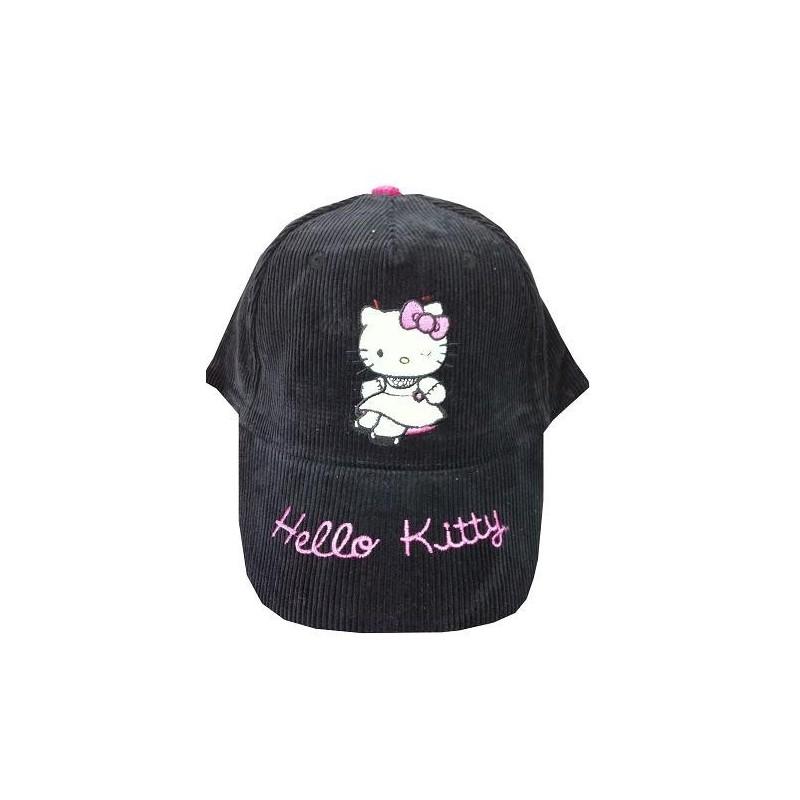 CASQUETTE HELLO KITTY velours noir