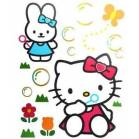 STICKERS HELLO KITTY FENETRES