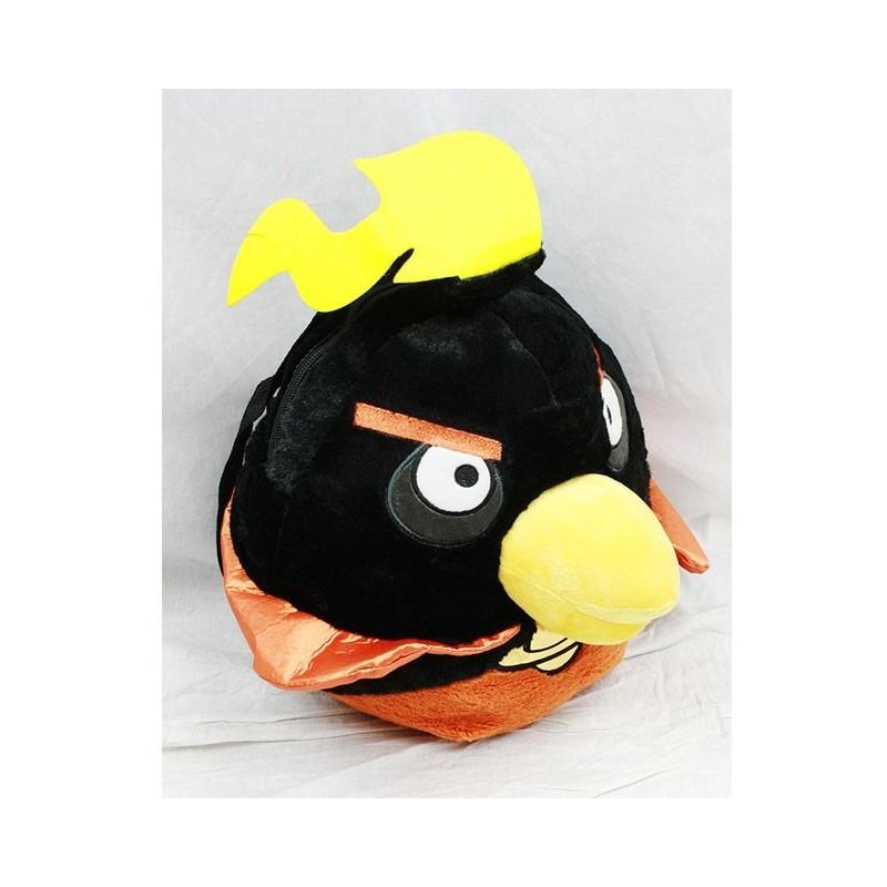 PELUCHE SAC A DOS ANGRY BIRDS noir