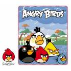 PLAID POLAIRE ANGRY BIRDS