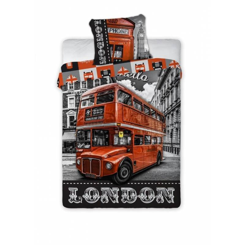 housse de couette london bus pas cher acheter produits en vente. Black Bedroom Furniture Sets. Home Design Ideas