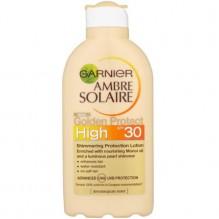 AMBRE SOLAIRE GARNIER Golden Protect Lait Protecteur Embellisseur FPS 30