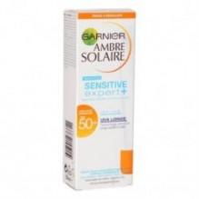 AMBRE SOLAIRE GARNIER Sensitive Expert+ Crème Visage et Décolleté FPS 50+ 50 ml