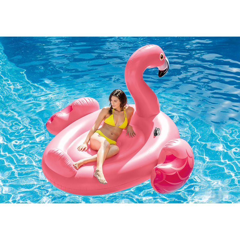 Flamand rose geant gonflable for Piscine gonflable solde