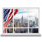 STICKER NEW YORK TROMPE OEIL