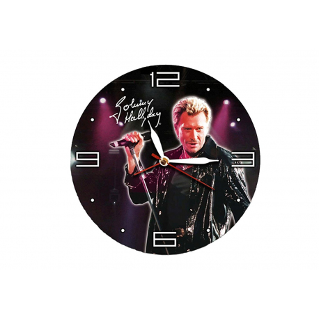 HORLOGE JOHNNY HALYDAY en bois