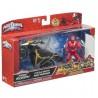 Figurine Power Rangers avec véhicule Mega Morph Ninja Steel